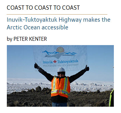 Inuvik-Tuktoyaktuk Highway makes the  Arctic Ocean accessible